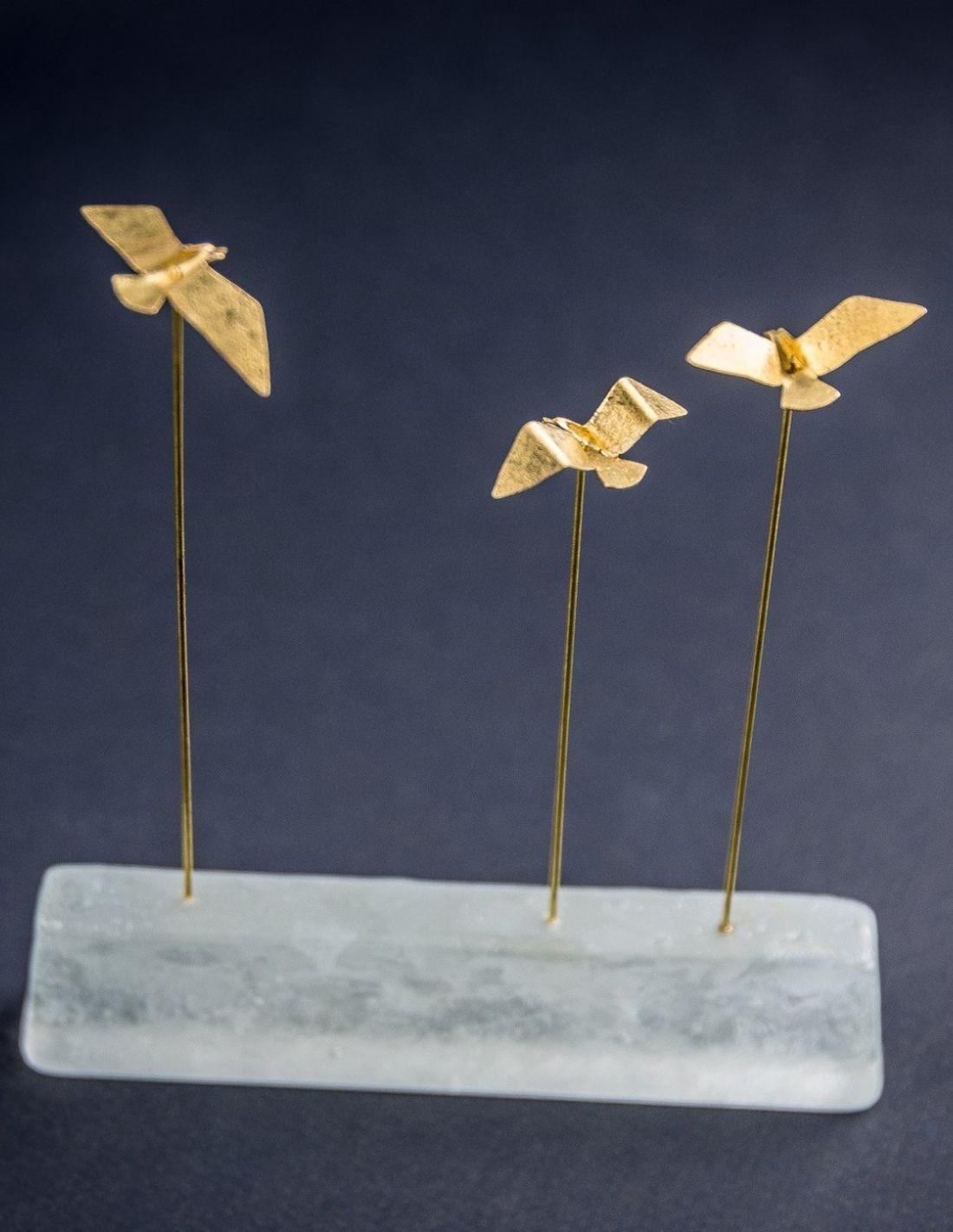 oiseaux de mer bronze