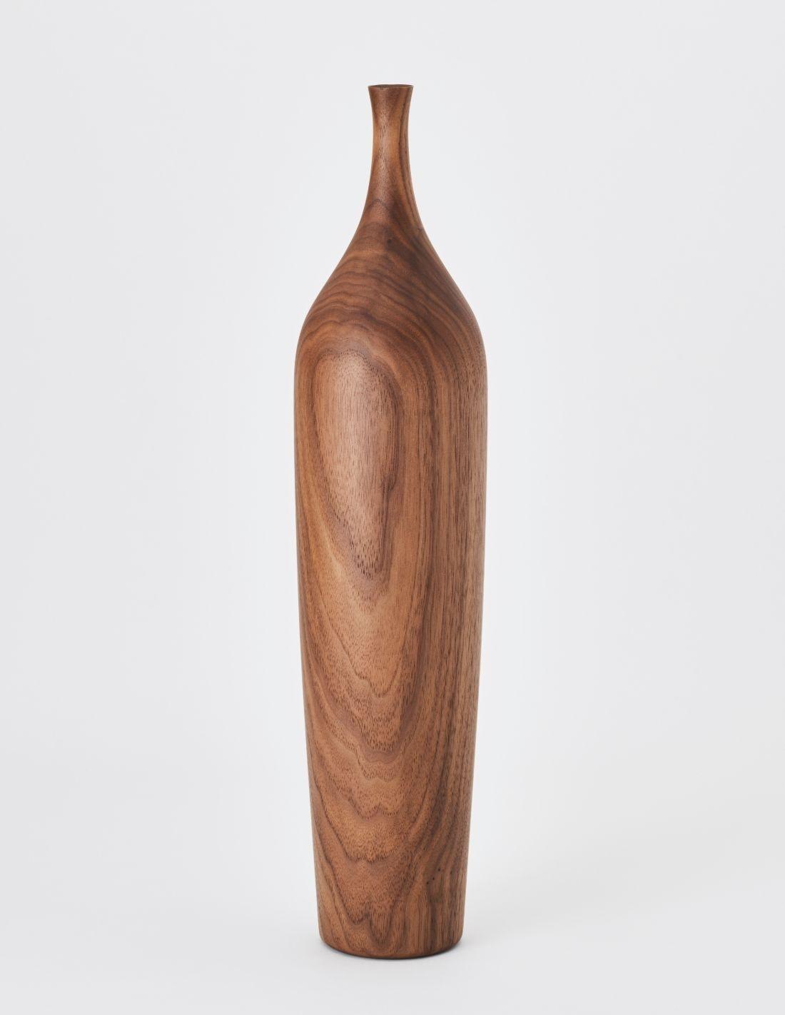"Vase ""Linea Walnut Grande"""