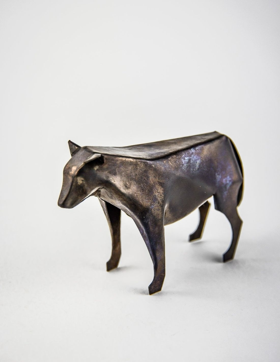 Loup gris bronze