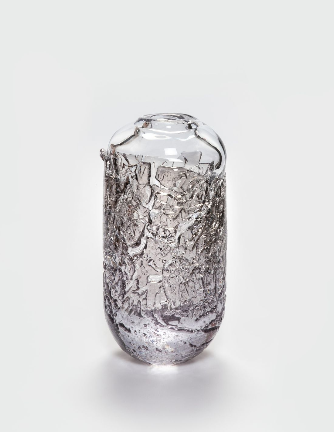 """Vase """"Recovered""""  clear and..."""